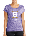 Women's PosiCharge Sporty Tee  | Tigers Shield