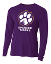 Youth Long Sleeve Cooling Performance Shirt | Full-Front Paw