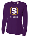 Women's Long Sleeve Cooling Performance T-Shirt | Tigers Shield