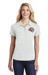 Women's Electric Heather Polo | Tiger Head Embroidery