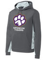 Youth Sport-Wick Fleece Hooded Sweatshirt | Full-Front Paw