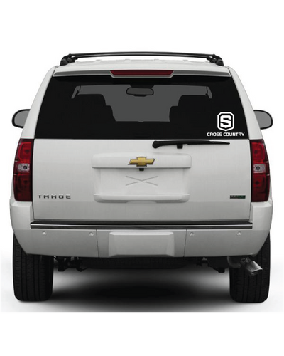 "Car Decal | Shield ""Cross Country"""