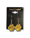 Spencer Tigers | Gold Paw Dangle Earrings