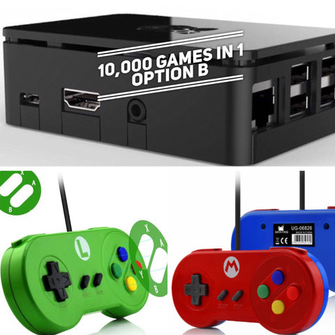 (Low In STOCK) 64GB-10,000 games in 1 console (12month Warranty) NO N64 games!! WE SHIP WORLDWIDE