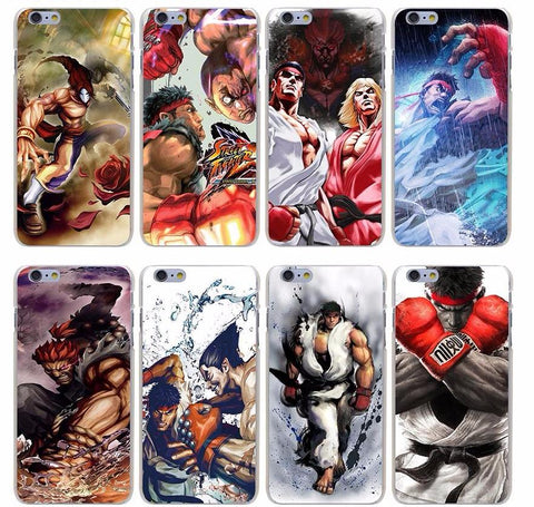 Tekken X Street Fighter Hard Transparent Cover Case for iPhone X 10 8 7 6 6S Plus 5 5S SE 5C 4 4S