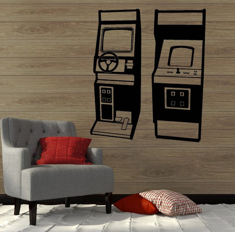 Mame & Aracade   Wall Vinyl Decal Poster Retro Gamers