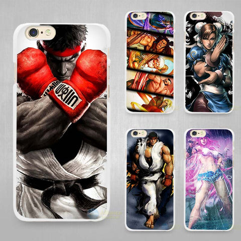 street fighters Hard White Cell Phone Case (for iPhone 4 4s 5 5C SE 5s 6 6s 7 8 Plus X)