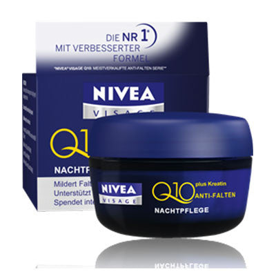 Nivea Visage Q10 Plus Anti-Wrinkle Night Cream 50ml - Made in Germany