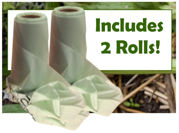 Compost Pail Liner Bags - Includes 2 Rolls (50 bags per roll - 100 bags total) - Fits 1.0, 1.3, & 1.5 Gallon Pails