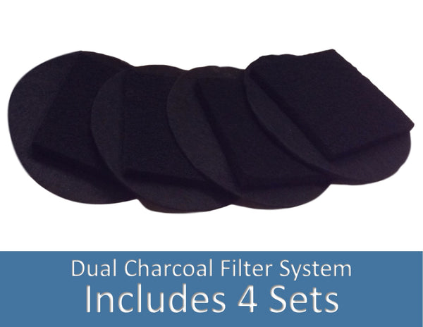Charcoal Replacement Filters - Fits 1.3 & 1.5 Gallon Large size pail