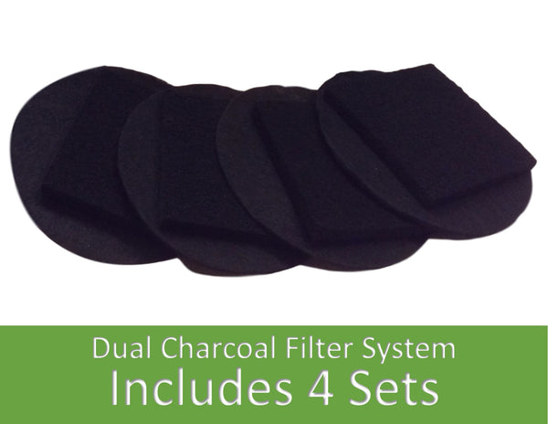 Charcoal Replacement Filters - Fits 1 Gallon size pail