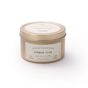 Amber Oak Travel Tin Candle