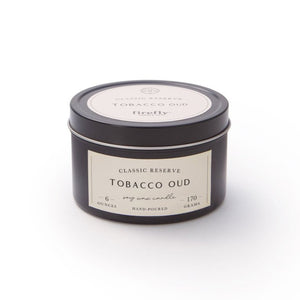 Tobacco Oud Travel Tin Candle