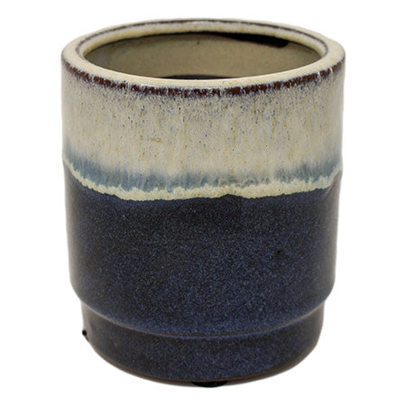 Blue Bamboo Pottery Candle