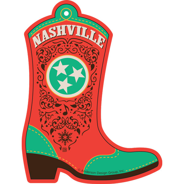 Nashville Boot Ornament