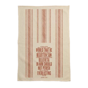 For God So Loved the World Kitchen Towel