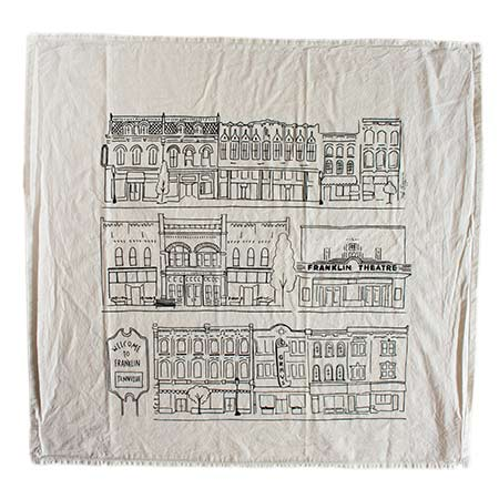 Franklin TN Tea Towel