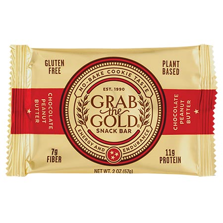 Grab the Gold Chocolate Chip Peanut Butter Snack Bar