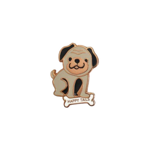 Happy Tails Enamel Pin