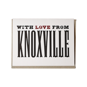 With Love from Knoxville Greeting Card