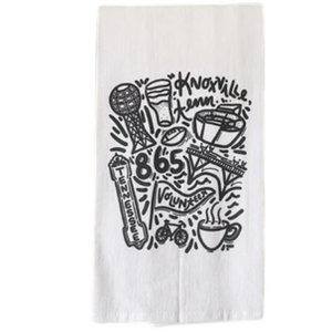 Knoxville Icons Tea Towel
