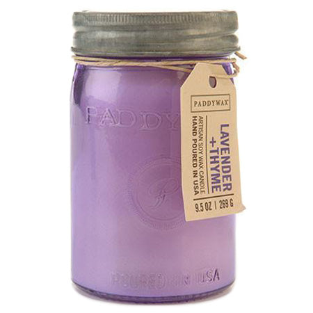 Lavender and Thyme Paddywax Candle