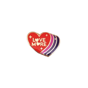 Love More Enamel Pin