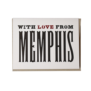 With Love from Memphis Greeting Card