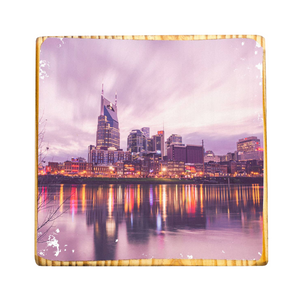 Nashville Skyline Photo Wood Block Art
