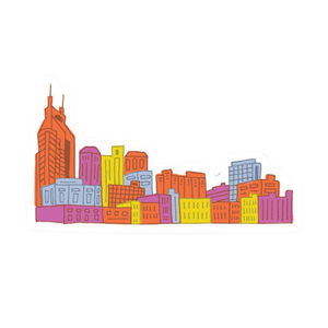Nashville Skyline Sticker
