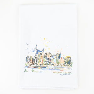 Nashville Watercolor Tea Towel