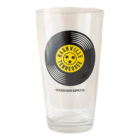 Nashville on the Record Drinking Glass
