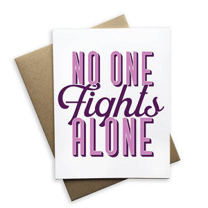 Greeting Card - No One Fights Alone