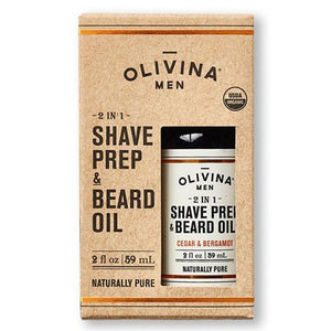 Organic Shave Prep and Beard Oil in Cedar and Bergamot