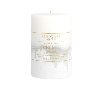Paddywax Home Concrete 37.5oz Pillar Candle
