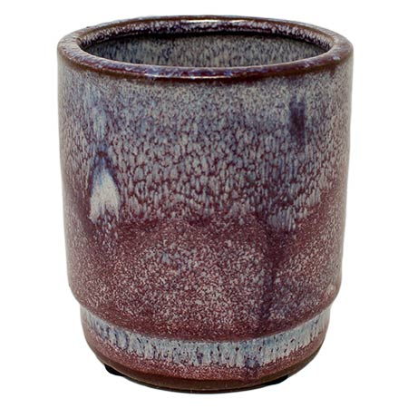 Plum Bark Pottery Candle
