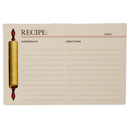 Hester & Cook Rolling Pin Recipe Cards - Set of 12