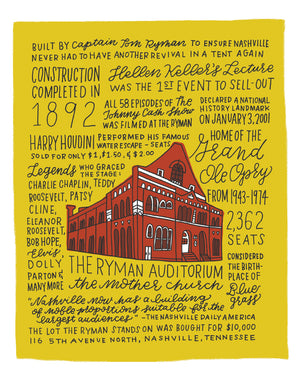 History of the Ryman Auditorium Art Print