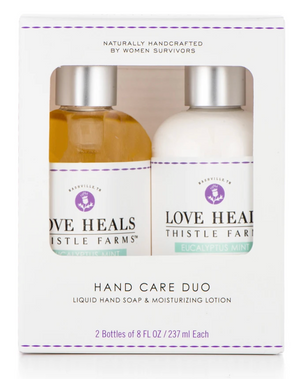Thistle Farms Hand Care Duo Set - Liquid Hand Soap and Moisturizing Lotion