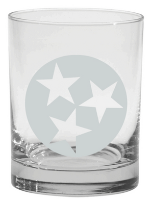 Tennessee Tristar Old Fashioned Glass