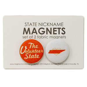 Volunteer State Tennessee Magnets - Set of 2