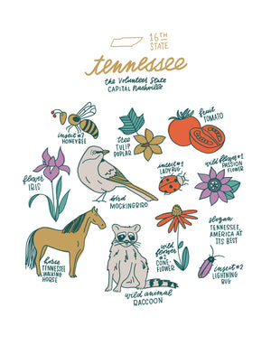 Tennessee State Symbol Print
