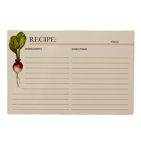 Hester & Cook Farmer's Market Recipe Cards - Set of 12