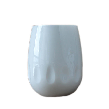 White Stemless Wine Glass