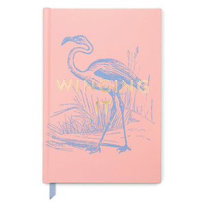Winging It Pink Flamingo Journal