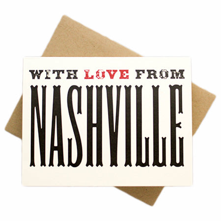 With Love From Nashville Greeting Card