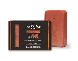 Olivina 1oz Travel Size Bourbon Cedar Soap Bars