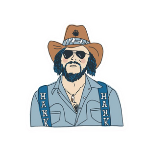 Hank Williams Jr. Sticker