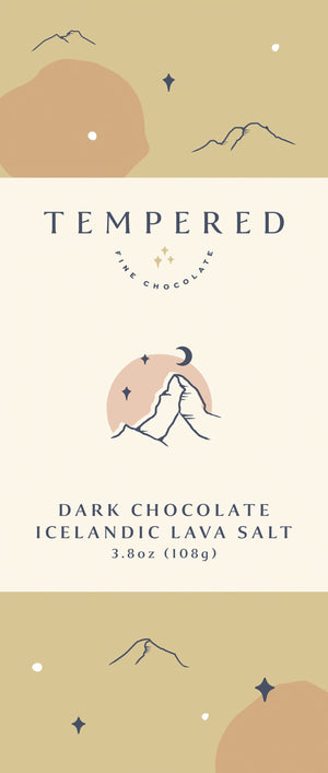 Dark Chocolate Icelandic Lava Salt Bar