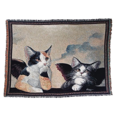 Cherub Cats Tapestry Throw